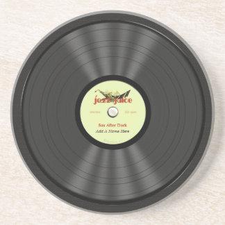 Disco de vinilo personalizado del jazz posavasos manualidades