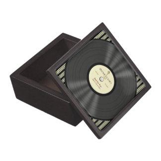 Disco de vinilo personalizado del micrófono del vi caja de joyas de calidad