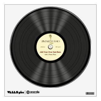 Disco de vinilo personalizado del micrófono del vi