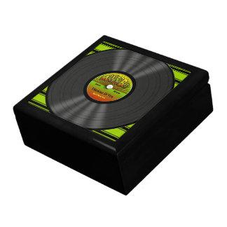 Disco de vinilo personalizado del reggae caja de joyas