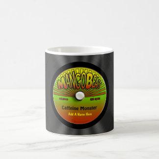 Disco de vinilo personalizado del reggae tazas de café