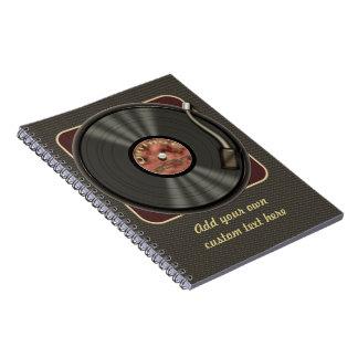 Disco de vinilo personalizado del vintage libretas espirales