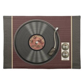 Disco de vinilo personalizado del vintage mantel individual