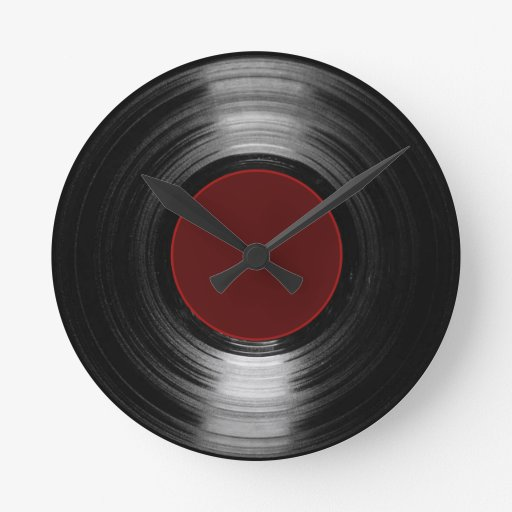 disco de vinilo reloj redondo mediano