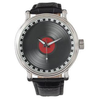 Disco de vinilo relojes de pulsera