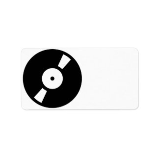 disco de vinilo retro etiquetas de dirección