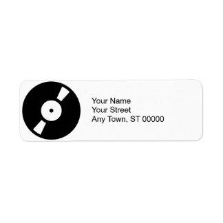 disco de vinilo retro etiquetas de remite