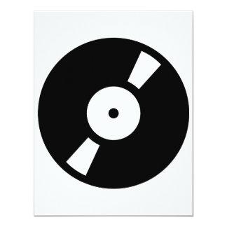 """disco de vinilo retro invitación 4.25"""" x 5.5"""""""