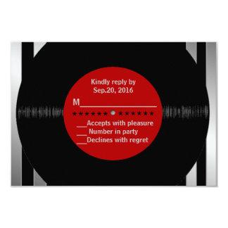 Disco de vinilo retro l RSVP moderno Invitaciones Personalizada