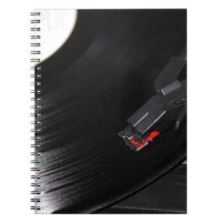 Disco de vinilo spiral notebook