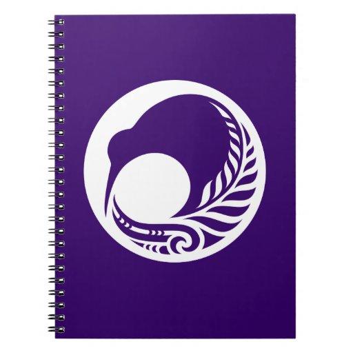 Disco del helecho del kiwi libreta espiral