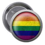 Disco del orgullo gay de la bandera del arco iris pins