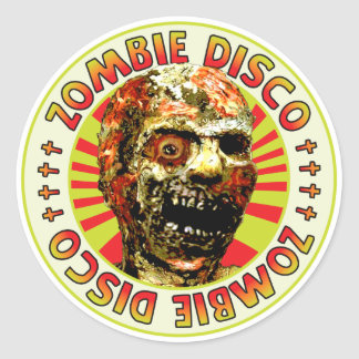 Disco del zombi pegatina redonda
