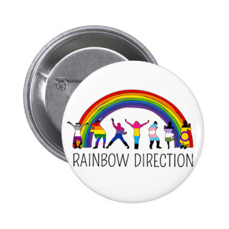 Disco Direction Pinback Button