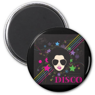 Disco ~ Disco Queen Funky 1980s 80s Music 2 Inch Round Magnet