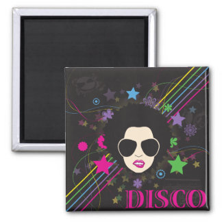 Disco ~ Disco Queen Funky 1980s 80s Music 2 Inch Square Magnet