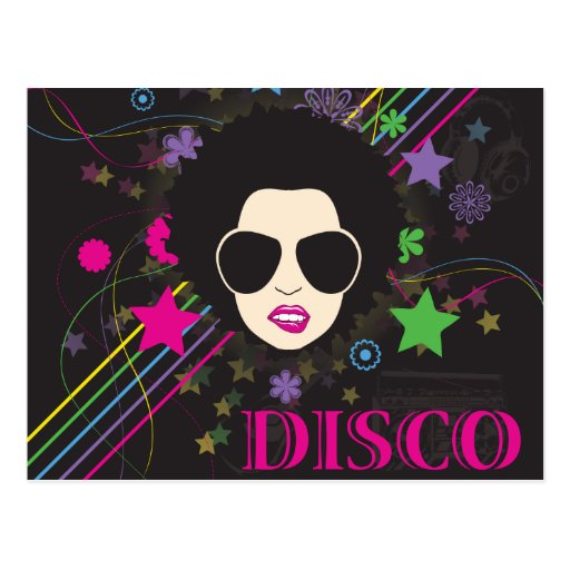Disco ~ Disco Queen Funky 1980s 80s Music Postcard