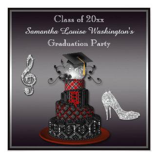 Disco Diva Cake, Silver Heels Graduation Party Announcements