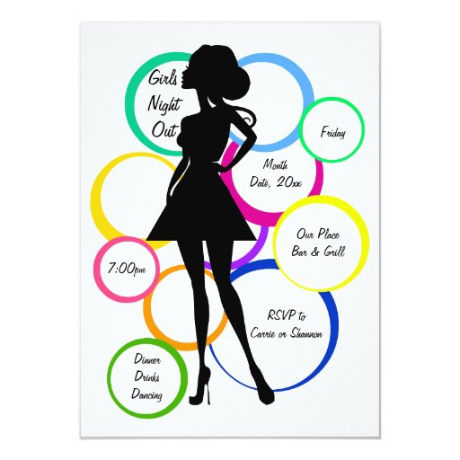 Disco Diva Girls Night Out 4.5x6.25 Paper Invitation Card