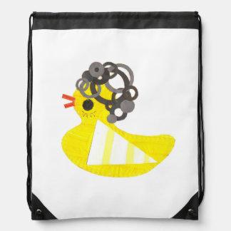 Disco Ducky Drawstring Bag