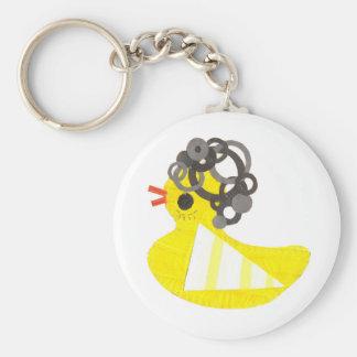 Disco Ducky Keyring Keychain