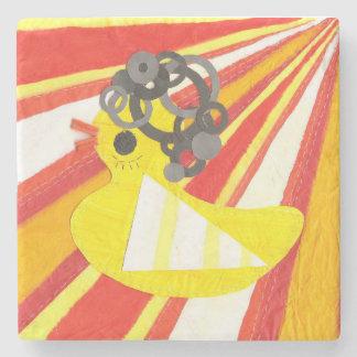 Disco Ducky Marble Coaster