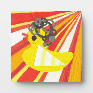 Disco Ducky on a Easel Display Plaque