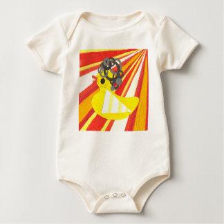Disco Ducky Organic Babygro Baby Bodysuit