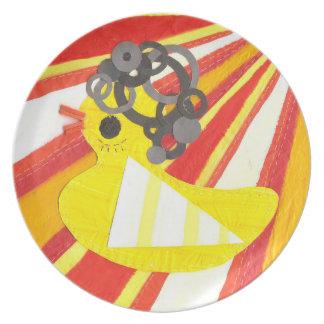 Disco Ducky Plate