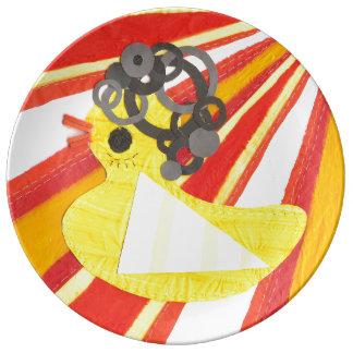 Disco Ducky Porcelain Plates