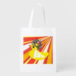 Disco Ducky Reusable Bag Reusable Grocery Bag