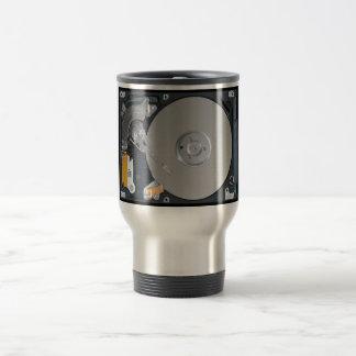 Disco duro interno taza de café