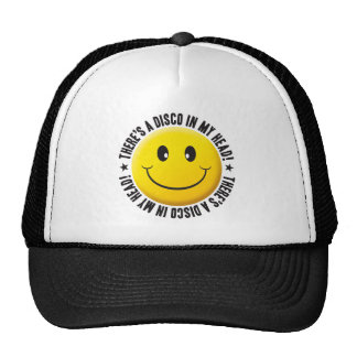 Disco en mi smiley principal gorras