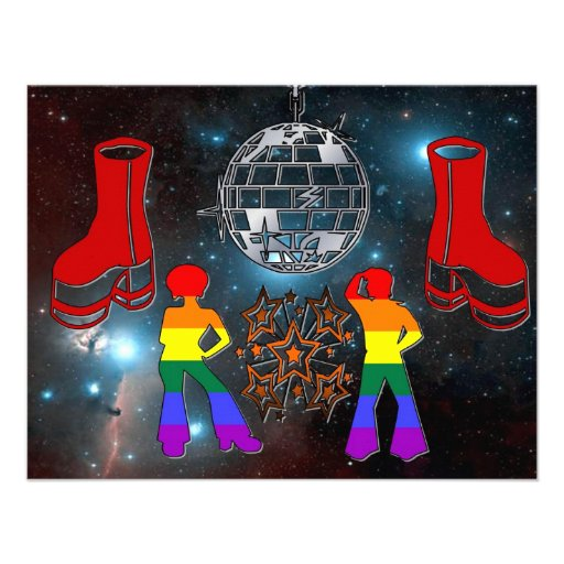 Disco Fever Invites