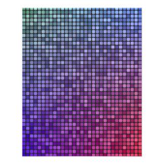 "Disco fever pixel mosaic 4.5"" x 5.6"" flyer"