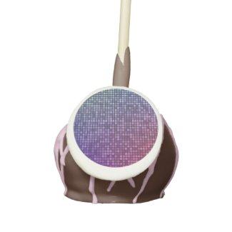 Disco fever pixel mosaic cake pops