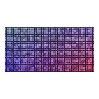 Disco fever pixel mosaic card