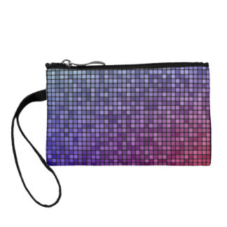 Disco fever pixel mosaic coin purse