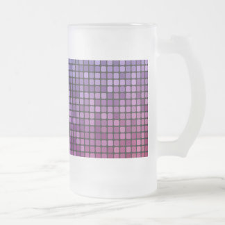 Disco fever pixel mosaic frosted glass beer mug
