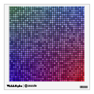 Disco fever pixel mosaic wall decal