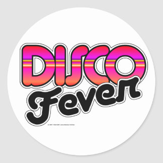 Disco Fever Round Stickers