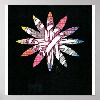 disco flower poster