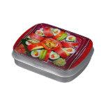 Disco fresco del sushi frascos de dulces