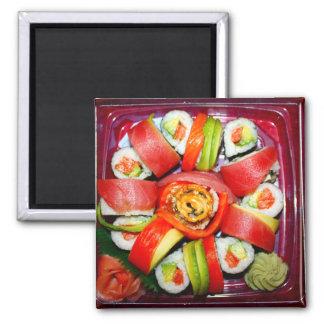 Disco fresco del sushi imán