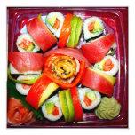 Disco fresco del sushi invitación 13,3 cm x 13,3cm