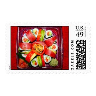 Disco fresco del sushi sello