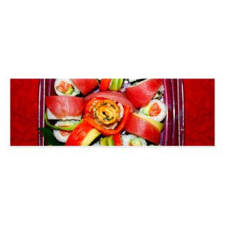 Disco fresco del sushi plantillas de tarjetas de visita