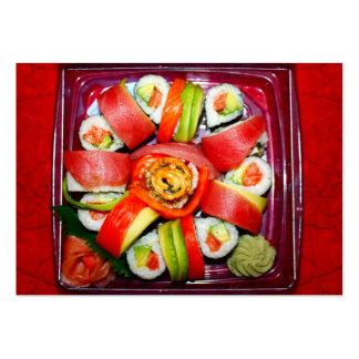Disco fresco del sushi tarjeta de visita