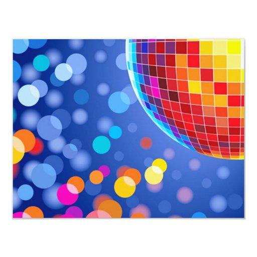 disco globe card