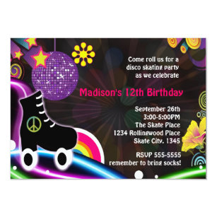Skate Party Invitations Announcements Zazzle